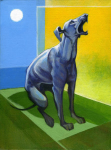 Blue dog howling