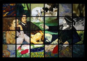 Parker Art Salon assembled mural project