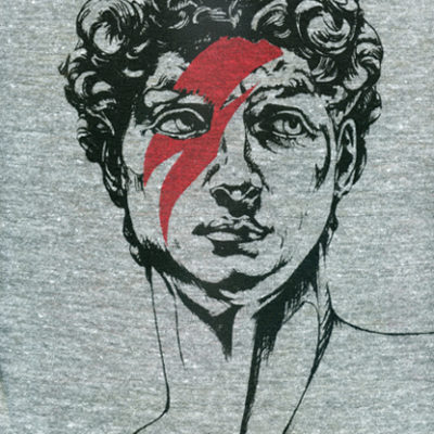 The screen printed shirt © Robbie Vergara